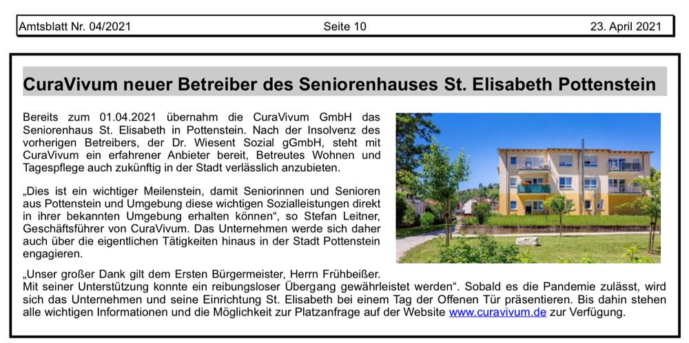 Seniorenhaus Pottenstein